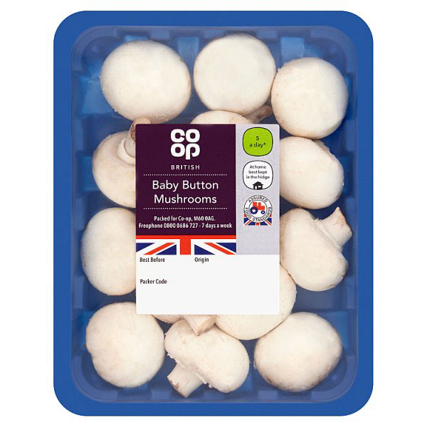Co-op Baby Button Mushrooms