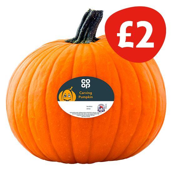 Co-op Carving Pumpkin