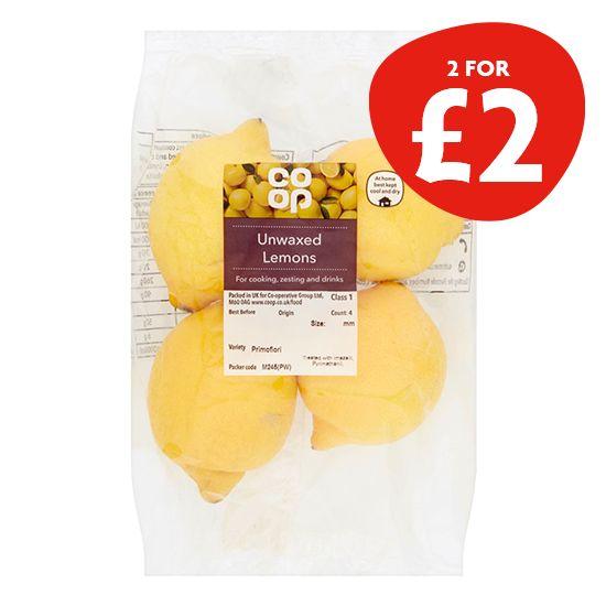 Co-op Unwaxed Lemons