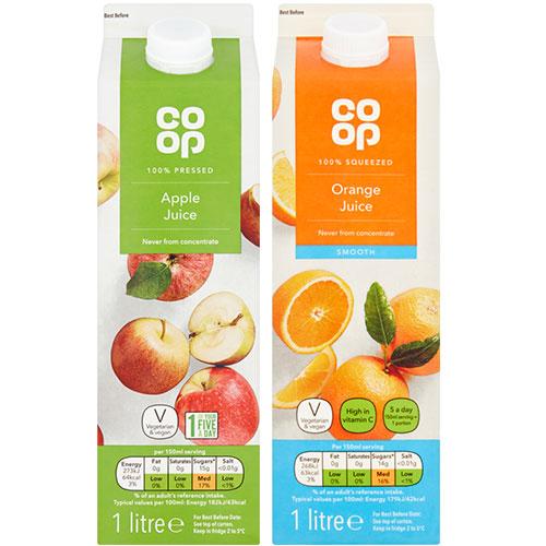Co-op Fruit Juices