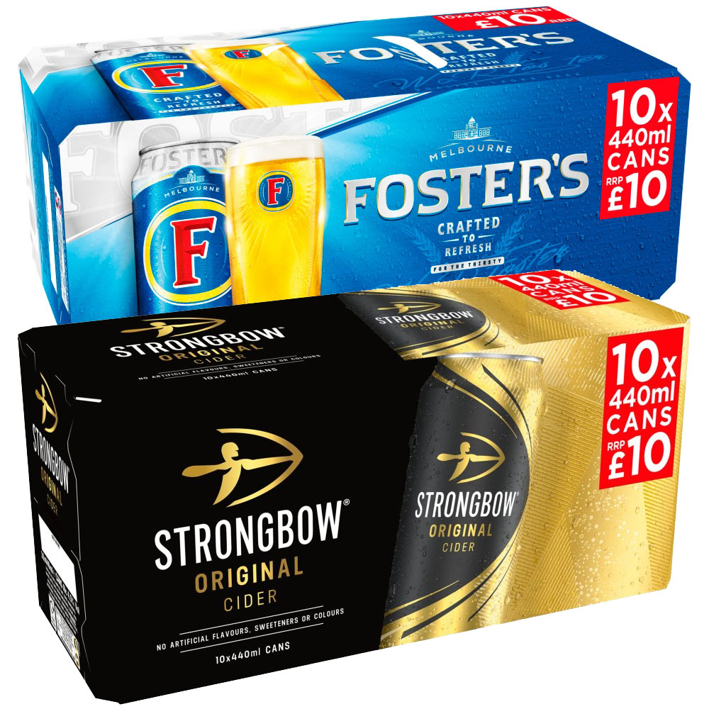Fosters & Strongbow