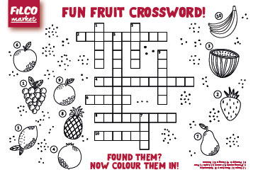 Fun Fruit Crossword